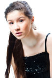 Beautiful Teenager Girl On Isolated White Royalty Free Stock Photo