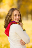 Beautiful teenager girl smiling Stock Photography