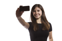 Beautiful teenager girl taking a selfie Stock Photography