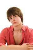 Beautiful Teenager In A Red Shirt Royalty Free Stock Photography