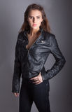 Lovely in Leather Royalty Free Stock Photography