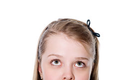 Beautiful teenager looking up Royalty Free Stock Image