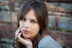 Beautiful Teenager Outside Royalty Free Stock Photo