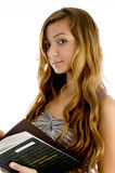 Beautiful teenager student with notebook Royalty Free Stock Photography