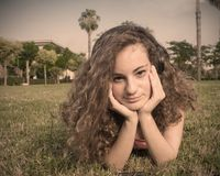 Beautiful teenager thinking Royalty Free Stock Photo