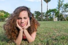 Beautiful teenager thinking Stock Image