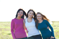 Beautiful  teenager woman  outdoor Royalty Free Stock Images