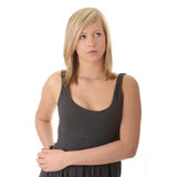 Beautiful teenager young blond girl Royalty Free Stock Photography
