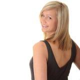 Beautiful teenager young blond girl Stock Photos