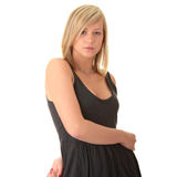 Beautiful teenager young blond girl Stock Photography