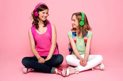 Beautiful teenagers looking at each other Royalty Free Stock Image