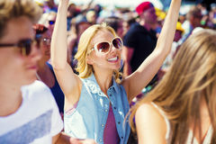 Beautiful teens at summer festival Stock Images
