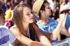 Beautiful teens at summer festival. Group of beautiful teens at concert at summer festival Royalty Free Stock Photography