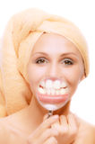 Beautiful teeth of young girl Stock Photo