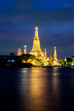 The beautiful temple along the Chao Phraya river Royalty Free Stock Images