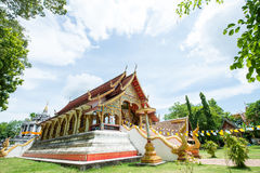 Beautiful temple and ancient pagoda at Wat Phra Yuen Royalty Free Stock Images