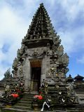 Beautiful Temple in Bali. Beautyful Temple in Bali on the Blue Sky Day Stock Photos