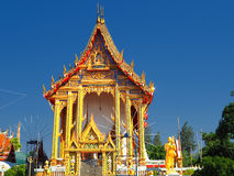 Beautiful temple bathed in morning light Stock Image