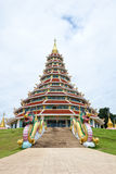Beautiful temple on blue sky background Royalty Free Stock Photo