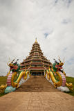 Beautiful temple on blue sky background Royalty Free Stock Photography