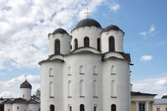 Beautiful temple in city Great Novgorod Stock Photos