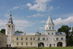 Beautiful temple in city Great Novgorod Stock Images