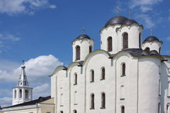 Beautiful temple in city Great Novgorod Royalty Free Stock Photography