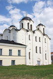 Beautiful temple in city Great Novgorod Royalty Free Stock Photo