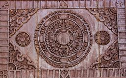 Beautiful temple door. In the north of Thailand Royalty Free Stock Image