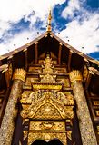 Beautiful temple door. In the north of Thailand Stock Images