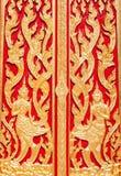 Beautiful temple door Royalty Free Stock Photo