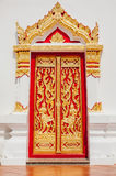 Beautiful temple door Stock Photography