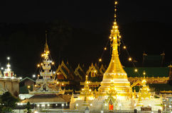 Beautiful temple known as Wat Jong Kham in THAILAND Royalty Free Stock Photography