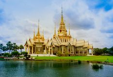 Gold, Thailand, Wat Phra Sing, Chiang Mai City, Chiang Mai Province royalty free stock photo