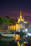 The beautiful temple made from marble and cement nighttime Royalty Free Stock Images