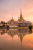 The beautiful temple made from marble and cement in sunset time Royalty Free Stock Photos