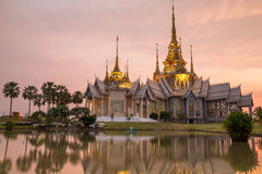 The beautiful temple made from marble and cement in sunset time Royalty Free Stock Images