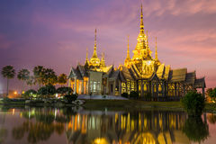 The beautiful temple made from marble and cement in twilight time Royalty Free Stock Image