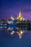 The beautiful temple made from marble and cement in twilight time Royalty Free Stock Images