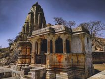 Beautiful temple in Rajasthano stock photos