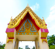 The beautiful temple roof and blue sky Royalty Free Stock Image