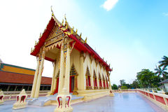 The beautiful temple roof and blue sky. Temple buddhism church ancient antiquity beatiful blue cloud exploration Stock Image