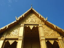 Beautiful temple soaring into blue sky Royalty Free Stock Photo