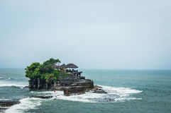 Bali temple in the sea Stock Image
