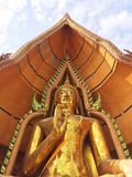 Beautiful temple in Thailand at wat tum sua temple , most popular temple royalty free stock photo