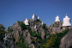 Wat Chaloemphrakiat in Thailand. royalty free stock photos