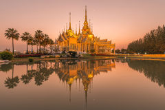 Beautiful temple at twilight time in Thailand Royalty Free Stock Photography
