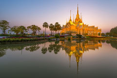 Beautiful temple at twilight time in Thailand Royalty Free Stock Image