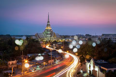 A beautiful temple in Twilight. (Wat Sothon, Chachoengsao, Thailand Stock Photos