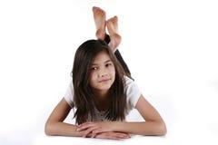 Beautiful ten year old girl Stock Photo